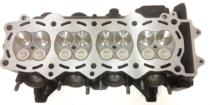 ZX14 Cylinder Head Work with Bronze Guides